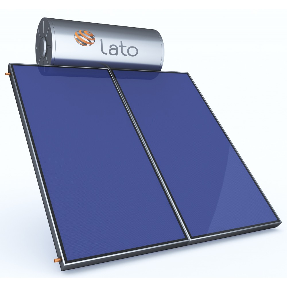 Ηλιακός θερμοσίφωνας 300 LT/4 m² glass διπλής ενέργειας, LATO