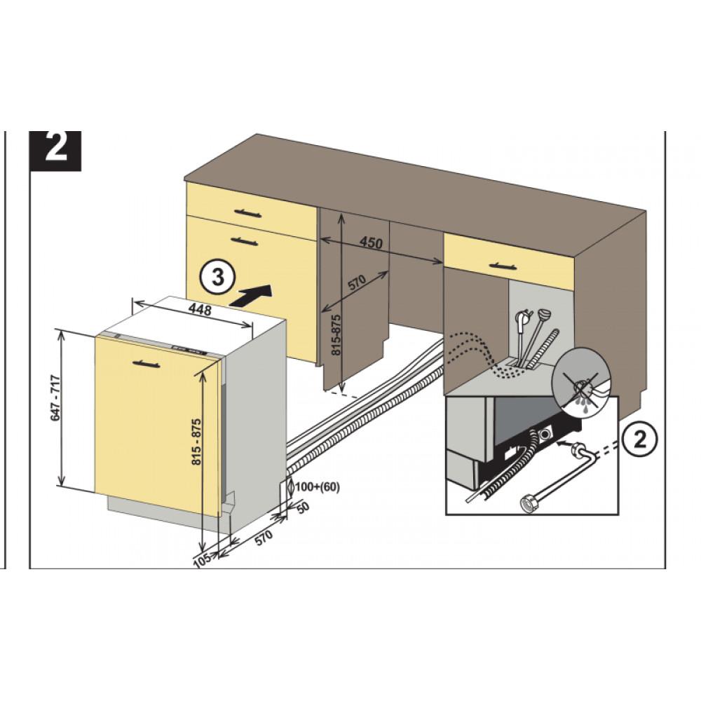 Πλυντήριο πιάτων, DW4530ABI, Crown