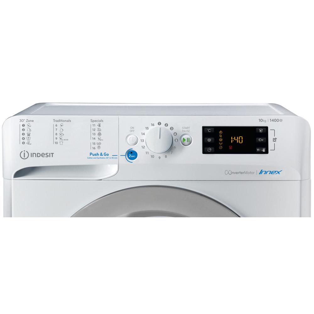 Πλυντήριο στεγνωτήριο ρούχων, 8-6 κιλών, BDE 861483X WS EU N, Indesit