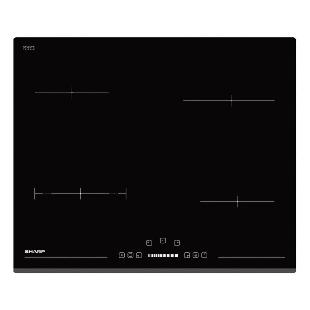 Εντοιχιζόμενη κεραμική εστία, KH-6V08BS00B, Sharp