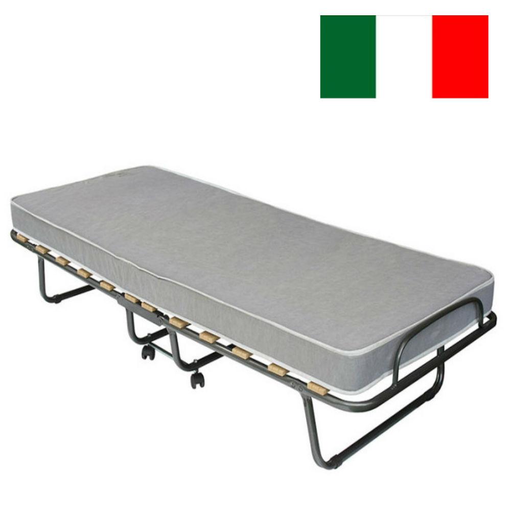 Κρεβάτι μονό πτυσσόμενο 80/190, Roma, με Δώρο στρώμα, Genomax
