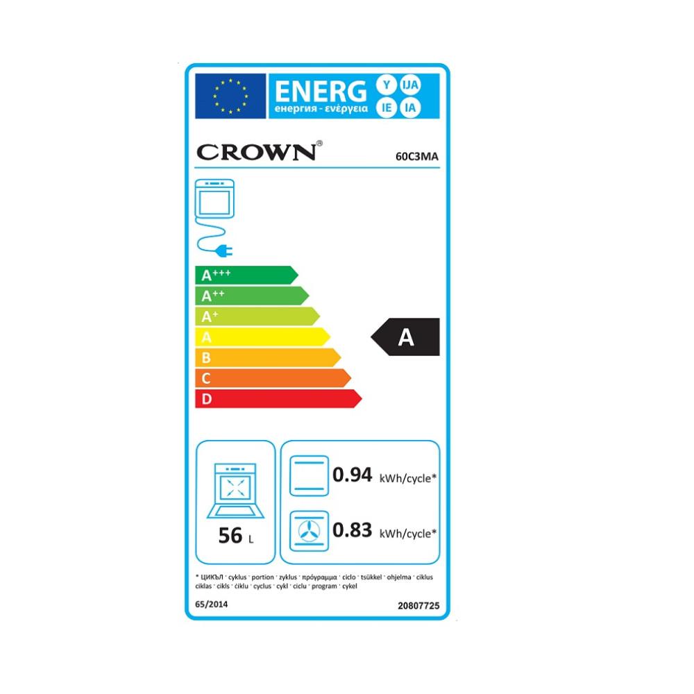 Ηλεκτρική κουζίνα, 60C3MA, Crown