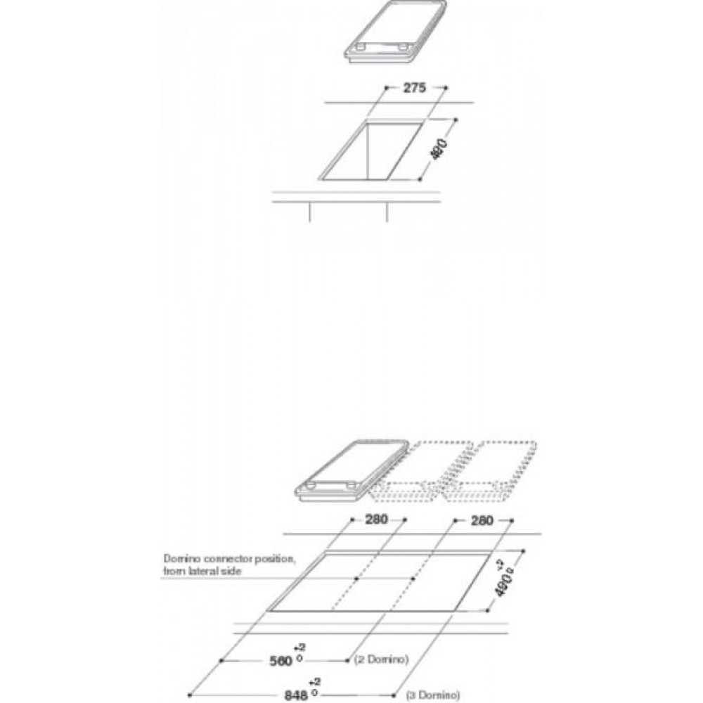 Κεραμική επαγωγική εντιχοιζόμενη εστία,  ACM 712 IX, Whirlpool