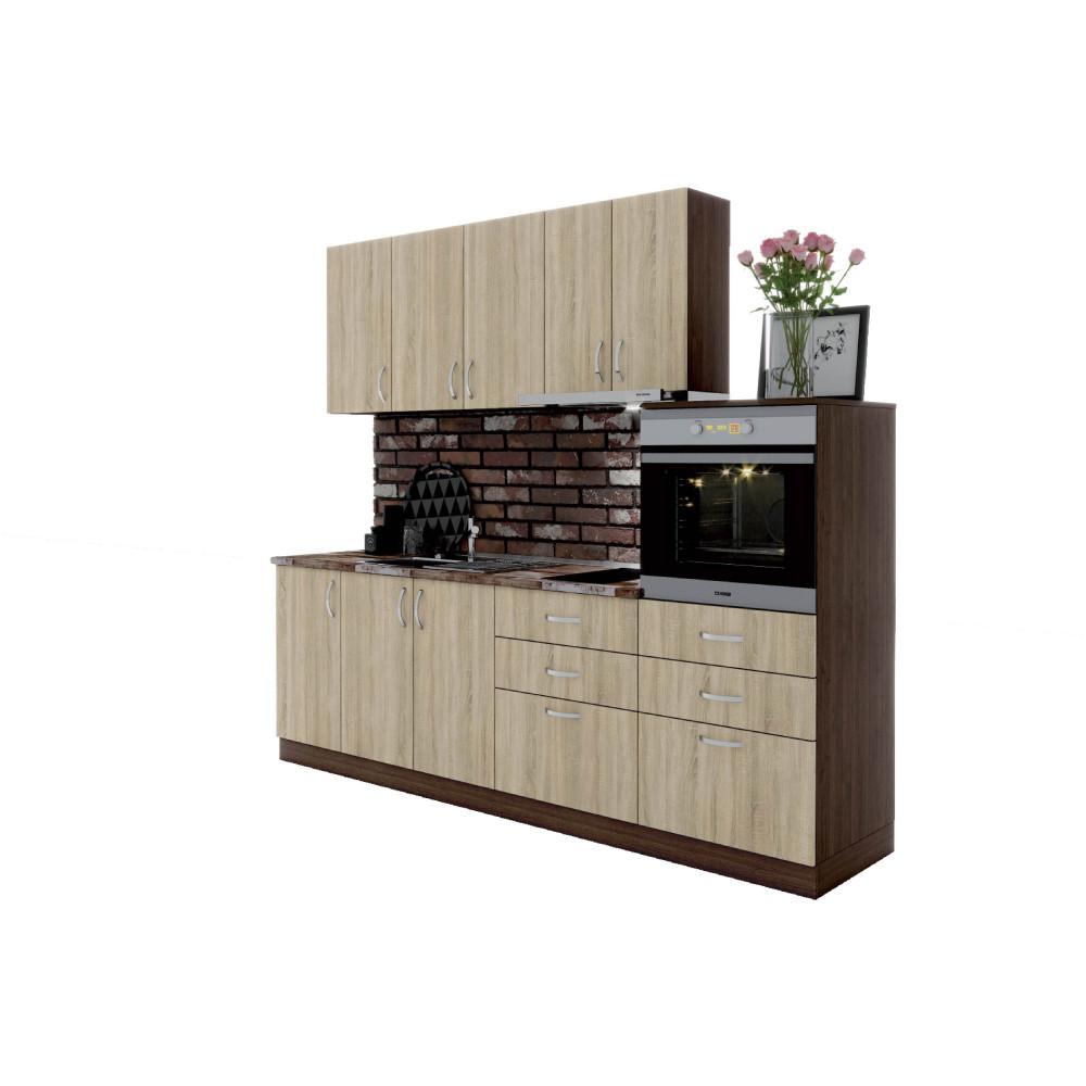 Σύνθεση Κουζίνας  3.80 μ., Luxury 240, Genomax