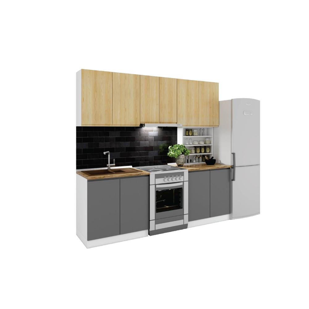 Σύνθεση Κουζίνας μήκος 2.60 μ, Ultra 340, Genomax