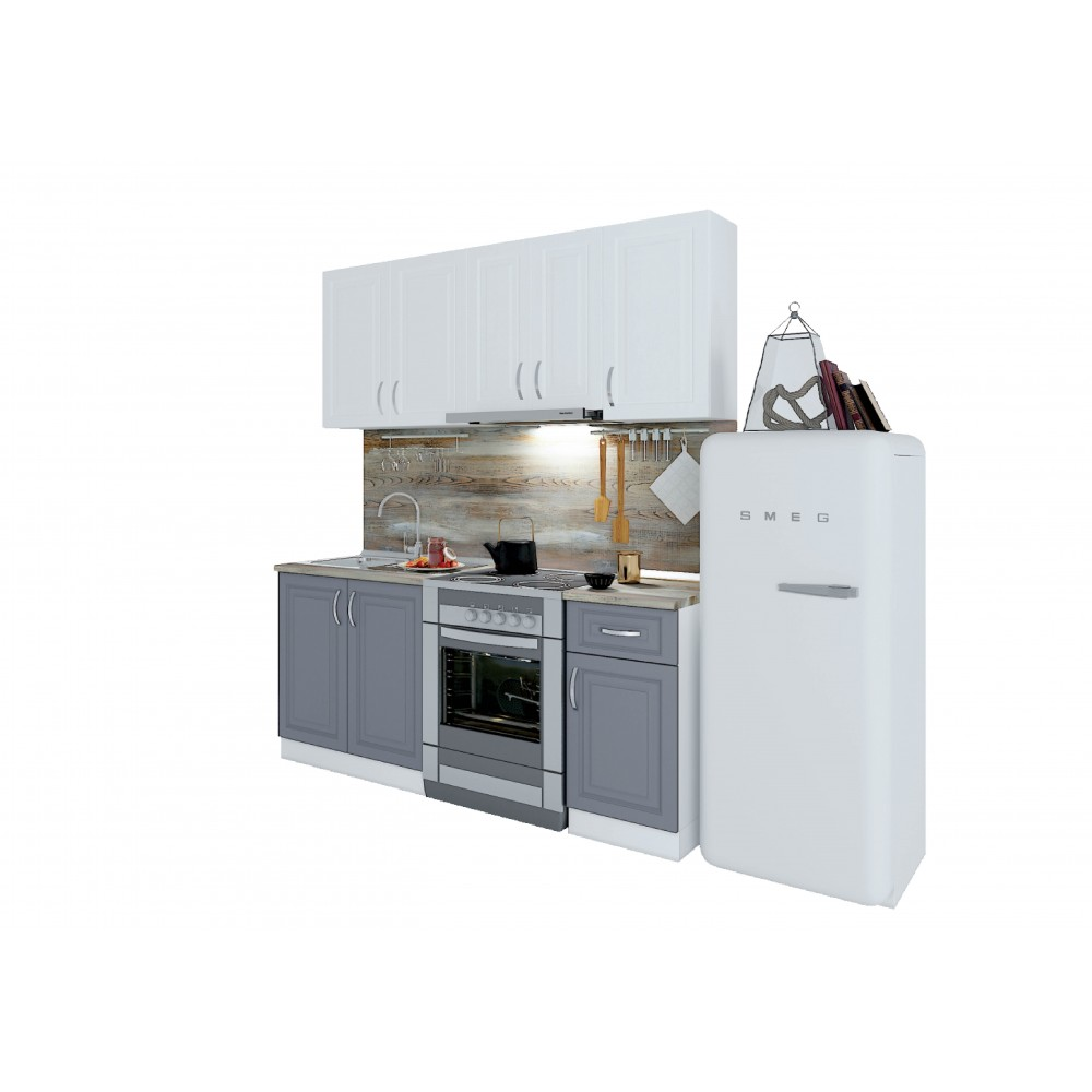 Σύνθεση Κουζίνας μήκος 2.60 μ, Vintage 260, Genomax