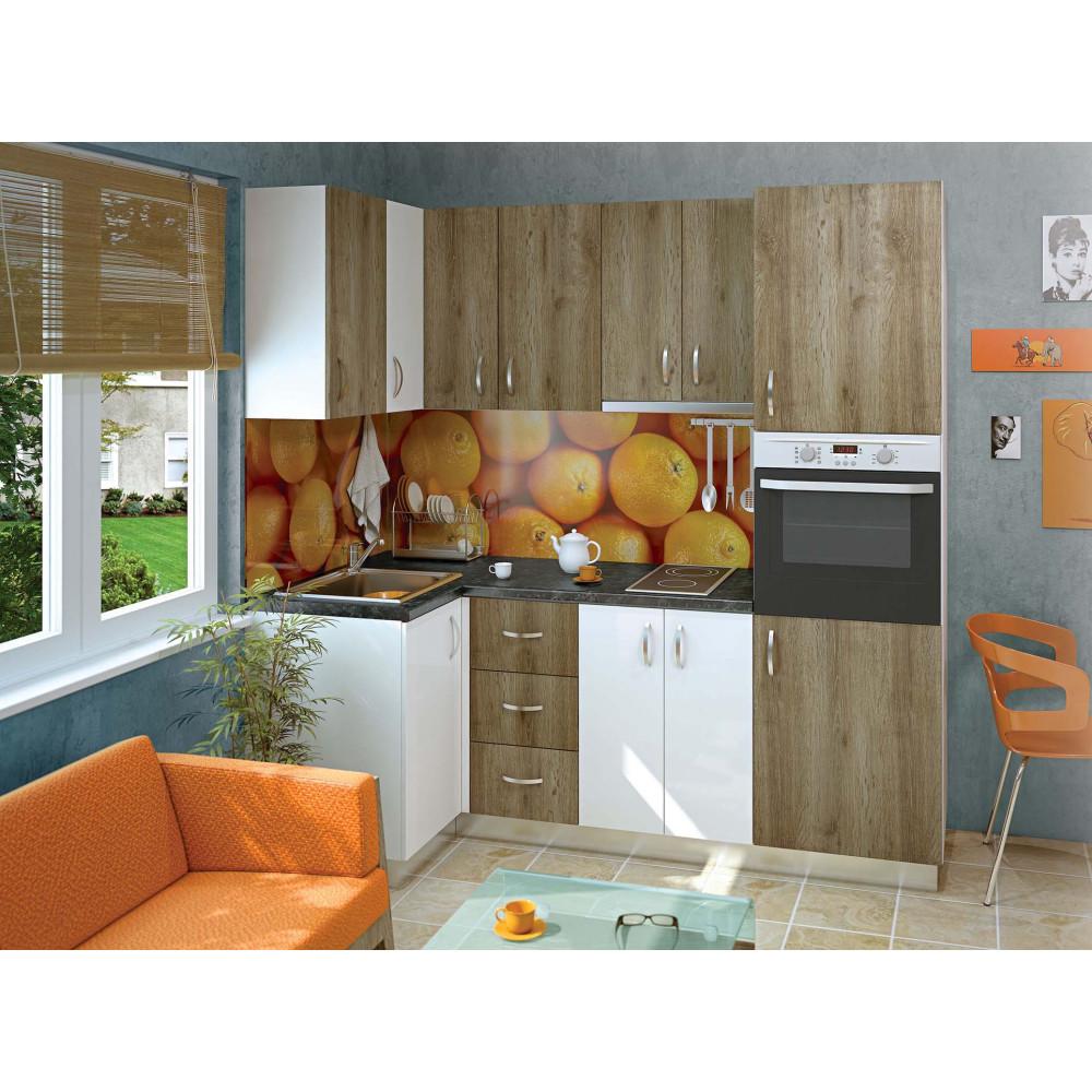 Σύνθεση Κουζίνας 6.4 μ., Luxury 100/220, Genomax