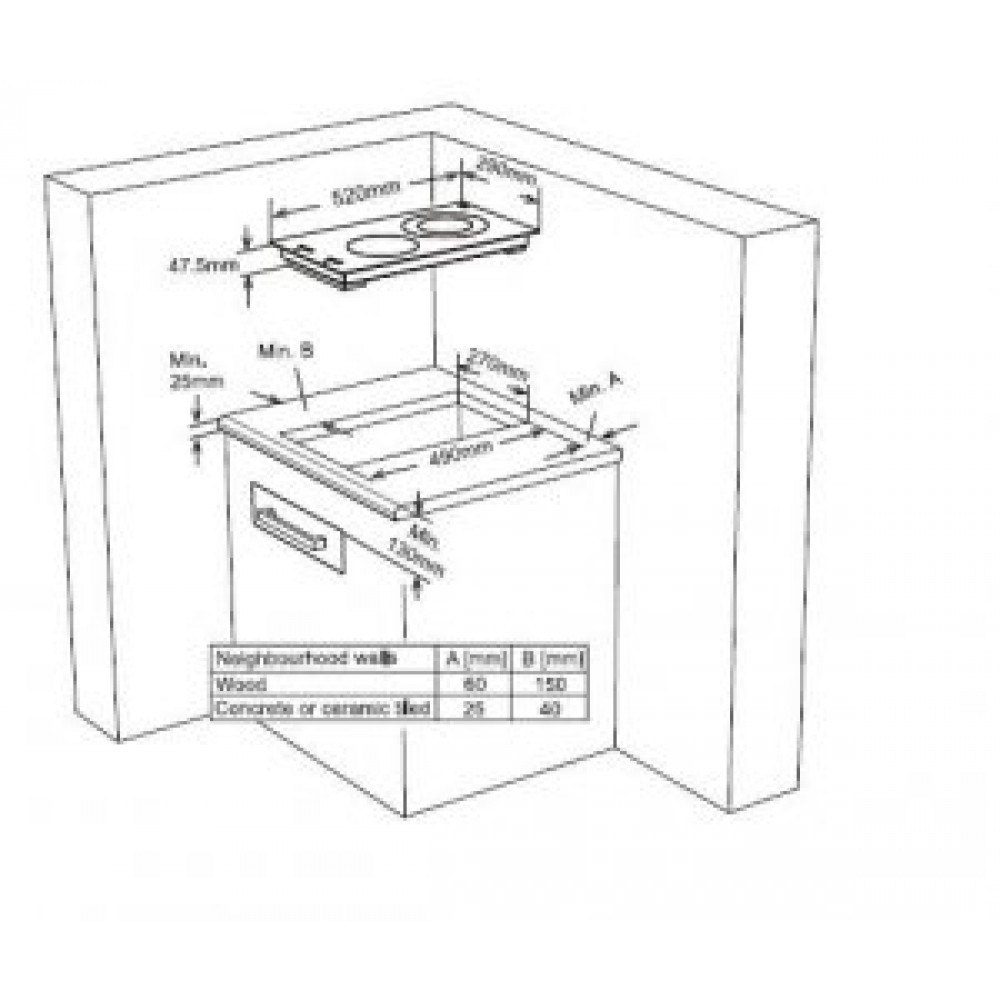 Εντοιχιζόμενη αυτόνομη κεραμική εστία, FXVT 302 Eco, Finlux