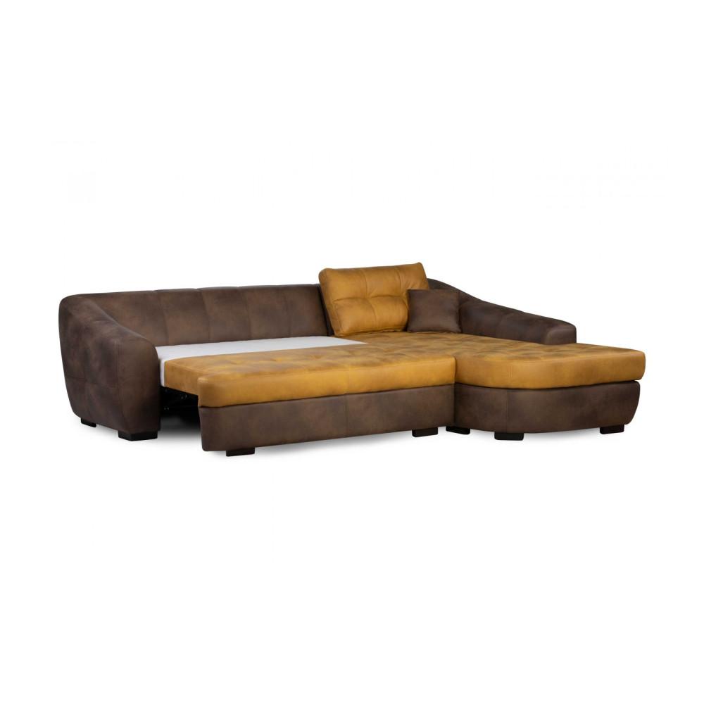 Γωνιακός Καναπές με Κρεβάτι στα Αριστερά 286/266x90x216/191 εκ. Hollywood
