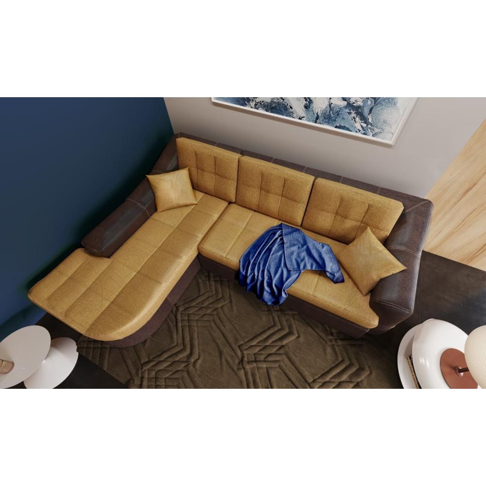 Γωνιακός Καναπές με Κρεβάτι στα δεξιά, 286/266x90x216/191, εκ. Hollywood