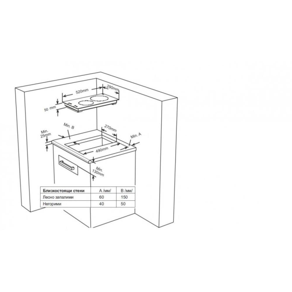 Eστία Εντοιχιζόμενη Κεραμική, FXVT 312D, Finlux