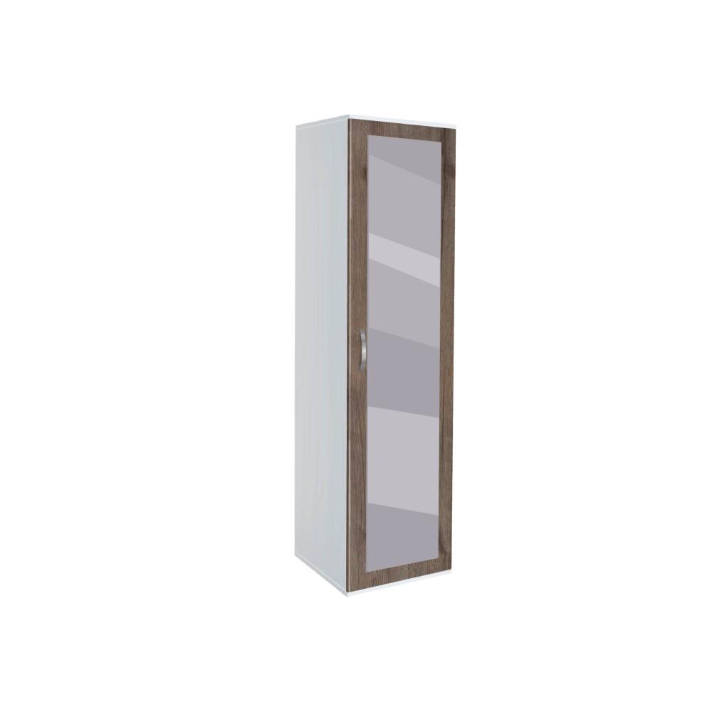 Ντουλάπα Μονόφυλλη με καθρέφτη, AVA 11, 39x185x50, Genomax