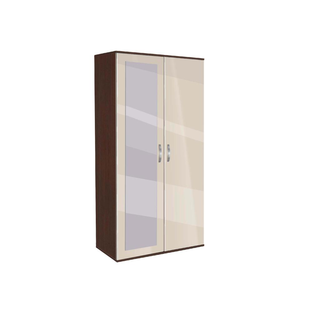 Ντουλάπα Δίφυλλη με καθρέφτη, AVA 201, 78x185x50, Genomax