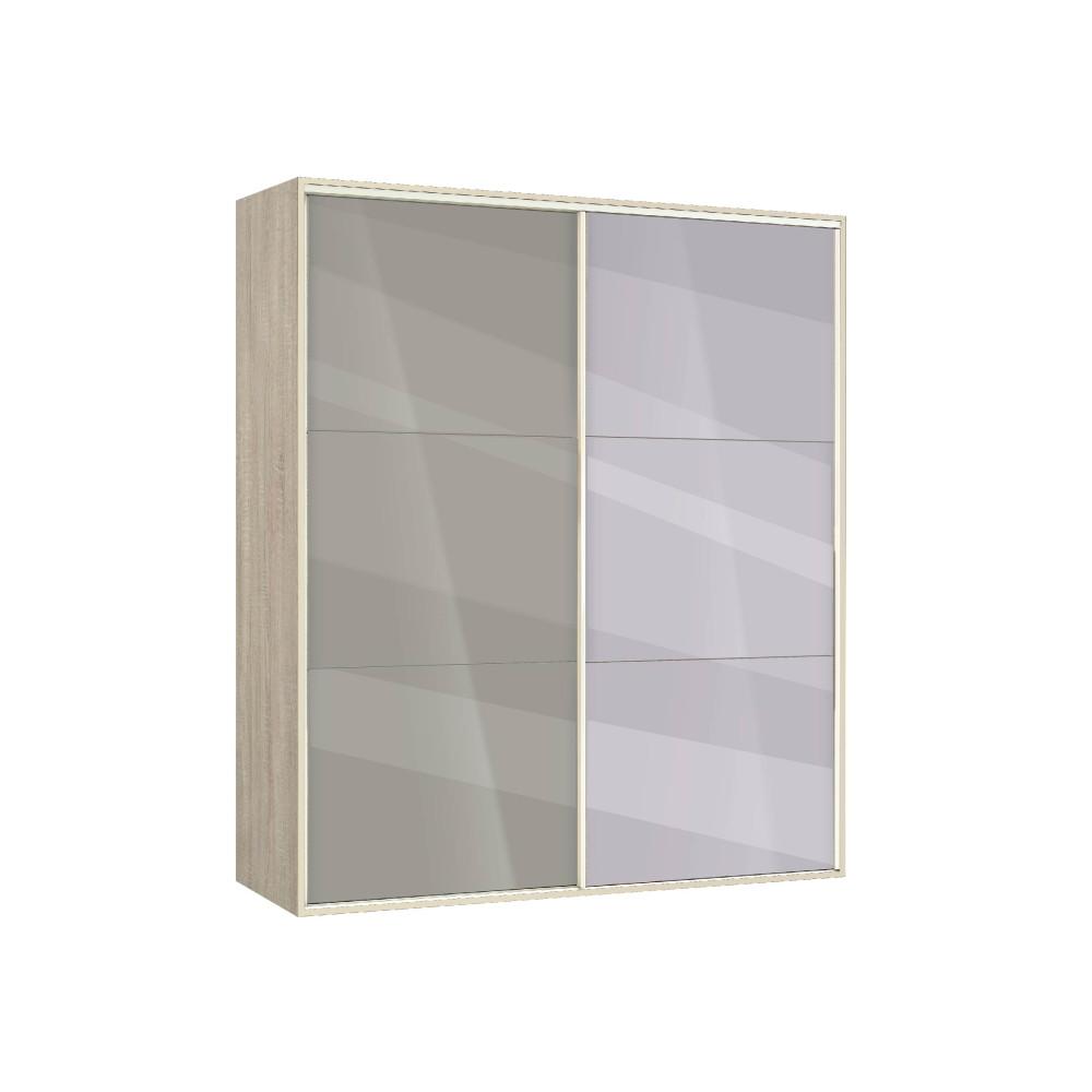 Ντουλάπα Συρόμενη με καθρέφτη, AVA 41, 160x200x59 ,Genomax