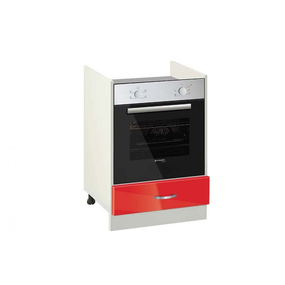 Ντουλάπι Κουζίνας επιδαπέδιο για εντοιχιζόμενη κουζίνα, No 601F, Genomax