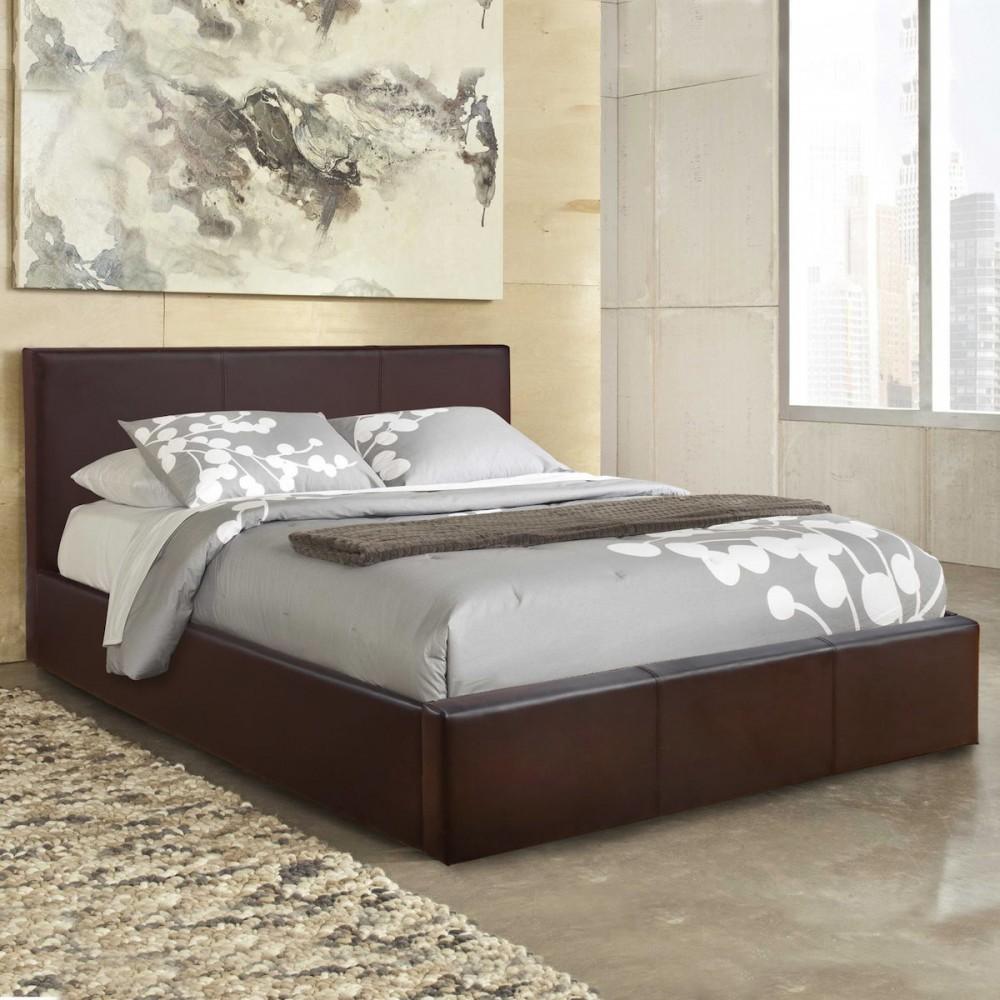 Κρεβάτι επενδεδυμένο με δερματίνη, Royal, Διαστάσεις από 82 - 160/200, Genomax